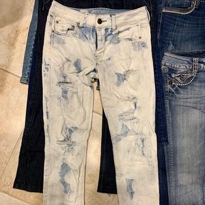 Ae America eagle sz 6 straight jeans trendy cute